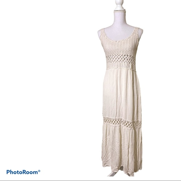 Lovestitch - knitted crochet maxi dress
